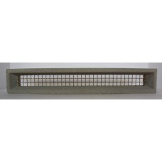300 Vent Plain Grey 455x75 Brass Wire