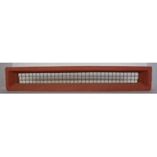 308 Vent Terracotta 455x75 Brass wire