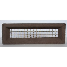 203 Dark Brown Vent 230x75 Brass Wire