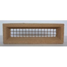 206 Sandstone Vent 230x75 Brass Wire