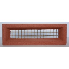 208 Terracotta vent 230x75 Brass Wire