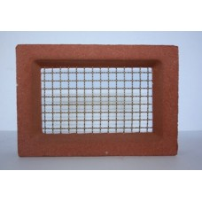108 Terracotta vent 230x160 brass wire