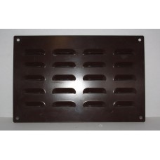 Grille louvre punched 300x200 brown