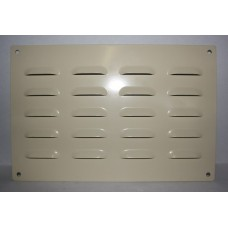 Grille louvre punched 300x200 cream